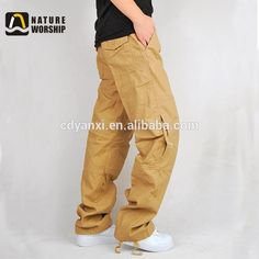 New Style Outdoor Fashion Men Casual Jean Baggy Pants, Hiking Jogging Sports Pants Trousers