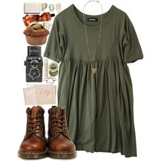 Untitled A fashion look from November 2013 featuring Zucca, lace up rubber boots and pieces jewelry. Browse and shop related looks. Mode Outfits, Fall Outfits, Casual Outfits, Fashion Outfits, Womens Fashion, Classic Outfits, Grunge Outfits, School Outfits, Fashion Styles
