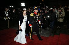 Members of the Danish Royal arrive for the annual New Years Day gala held at Amalienborg Palace.01/01/2015