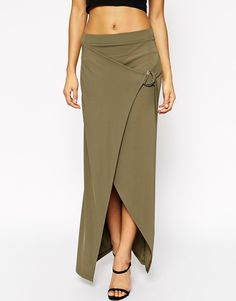 Image 4 of ASOS Maxi Skirt With D Ring