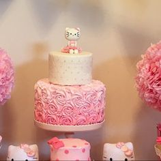 Käuferfoto Felisa Wilson (Artikel wurde mit der Etsy app for iPhone bewertet) 1st Birthday Foods, 5th Birthday Girls, Monkey Birthday Parties, Kylie Birthday, Birthday Ideas, Hello Kitty Theme Party, Hello Kitty Birthday Cake, Hello Kitty Themes, Kitty Party