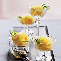 Mango-Agave Sorbert as a #wedding_dessert for a summer or #beach_wedding