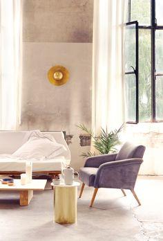 Ewelina Makosa & Jan Garncarek's Berlin Studio Revels in its Industrial Heritage Glass Top Desk, Home And Living, Living Room, Interior Decorating, Interior Design, Home Goods, Studio, Furniture, Berlin
