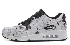 Nike Air Max 90 New York City Flower White Black 747105-001 womens shoes - Black/Gery