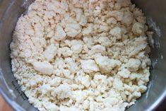 Rhubarb Meringue - Crust cumbles ready to be pressed into a 9x13 casserole dish. Best Rhubarb Recipes, Rhubarb Desserts, Rhubarb Meringue, Rhubarb And Custard, Snack Recipes, Dessert Recipes, Cookie Crust, Summer Treats, Casserole Dishes