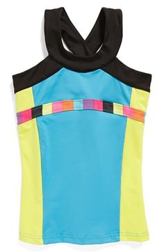 Limeapple Crossback Tank Top (Big Girls) available at #Nordstrom