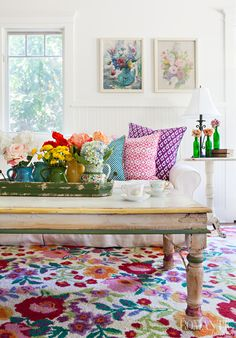 Vibrant Cottage Decor with Floral Flair: House Tour