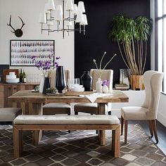 $899 for the 62 inch rectangular Emmerson Reclaimed Wood Dining Table #westelm.