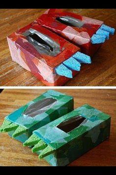 potes fetes de capses de tissues