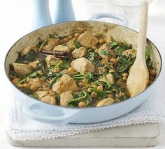 Lemon-spiced chicken with chickpeas