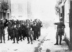 The Dieppe Raid - Canadian prisoners of war being lead through Dieppe August 1942