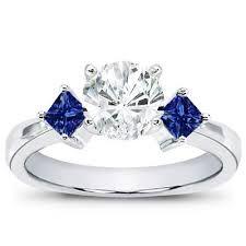 anillos de compromiso con zafiro azul - Buscar con Google
