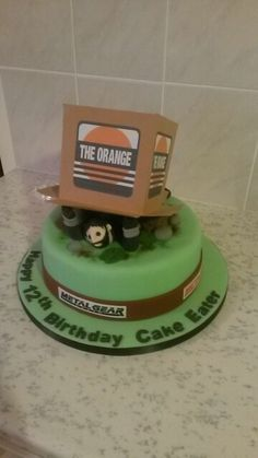 Cake Eater, Birthday Parties, Birthday Cake, Metal Gear Solid, Gears, Video Game, Cakes, The Originals, Party