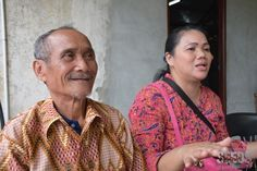 TRADITION MUST PASS ON: Pak Amin (left) and his daughter Yuliani (right) emphasized on the importance to keep the tradition of Gawai Nyobeng alive.