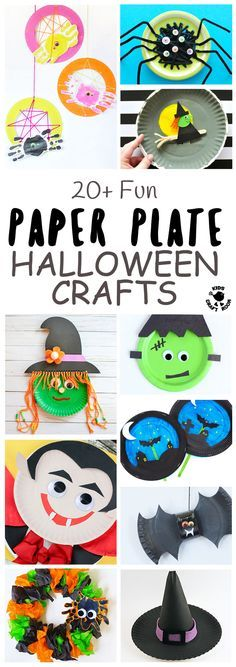 Paper Plate Halloween Crafts For Kids - Grab your paper plates Halloween is coming! We've got over 20 of the most fun paper plate crafts to keep your kids enjoying creativity right through the spooky season. Think witches that fly on their broomsticks, bats that zoom through the graveyard and much more. A mix of interactive and decorative Halloween crafts kids will adore. #Halloween #Halloweencrafts #paperplatecrafts #kidscrafts #HalloweenDecorations #halloweenideas