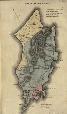 An account of the past and present state of the Isle of Man (1811) ..Map