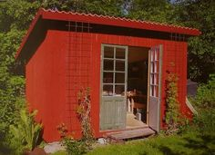 Gästhus Bungalow, Champs, Red Houses, Ocean House, Red Cottage, Cottage Design, House On Wheels, Outdoor Gardens, Building A House