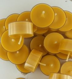 200  Beeswax Eucalyptus   TEA LIGHT CANDLE by CandleBakeryCandles, $112.00