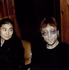 John Lennon and Yoko Ono were photographed during an interview at The Hit Factory on this day in 1980. (December 6th 1980.)