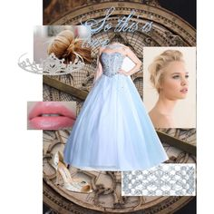 Cinderell formal, created by dana15 on Polyvore