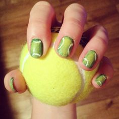 Tennis ball manicure by crystalpolish nail art creative tennis ball manicure by crystalpolish nail art creative nails pinterest manicure and creative nails prinsesfo Image collections