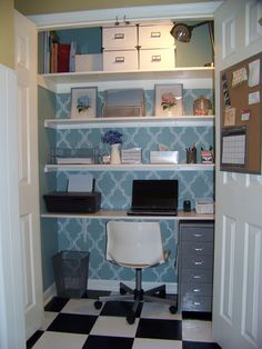 Image detail for -closet makeover transform a small space into a functional office