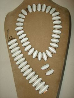 Modernist David Andersen White Enamel Guilloche Sterling NECKLACE, from pastpossessions on Ruby Lane