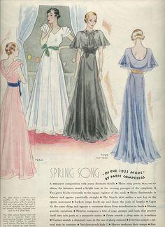 https://flic.kr/p/6tdPbo | Fashionable spring dresses, 1933
