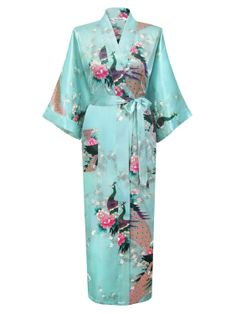 Swhiteme Women's Kimono Robe - Peacock & Blossom http://www.amazon.com/exec/obidos/ASIN/B00CHFBPMS/hpb2-20/ASIN/B00CHFBPMS It's well made and very nice. - The one size fit is pretty big. - A great present and money well spent.