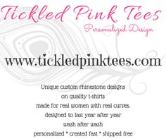 Tickled Pink Tees Pink Tees, Rhinestone Shirts, Barbie Party, Quality T Shirts, Party Shirts, Birthday Shirts, Shirts For Girls, Party Themes