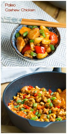 Paleo Cashew Chicken Recipe. It's whats for dinner tomorrow! Replacing the palm sugar with dates to make Whole 30 approved.