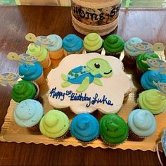 Sea Turtle Baby Shower Decorations - Boy Turtle Birthday Party - Under the Sea Baby Shower Banner, Cake Topper, First Birthday Turtle Birthday Parties, Trains Birthday Party, Birthday Music, Birthday Cake, Birthday Nails, Happy Birthday, Baby Shower Decorations For Boys, Birthday Party Decorations, Birthday Crafts