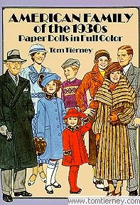 American Family of the 1930s Paper Dolls by Tom Tierney