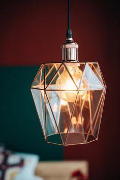 Geometric Glass Lamp / Glass Lighting / Geometric Pendant Lamp / Pendant Stained Lamp / Loft lamp / Foyer Pendant Lighting, Pendant Lamp, Geometric Lamp, Stained Glass Lamps, Lamp Socket, Glass Terrarium, Galvanized Metal, Light Art, Glass Pendants