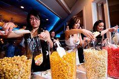 popcorn bar?! THIS WILL BE AT MY WEDDING!!! I <3 Popcorn!!! @Hanna Reed