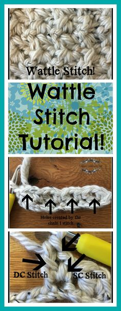 She gives an awesome, detailed tutorial on how to do the wattle stitch!
