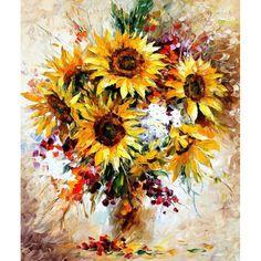 Diy Acryl Malerei Bild Kunst Rote Blumen Malen nach Zahlen