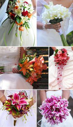 Brautstrauß mit Lilien