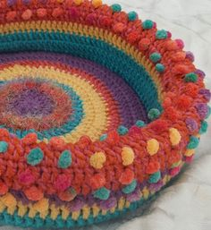 Munch's Hand Crocheted Cat Bed  So very cute...