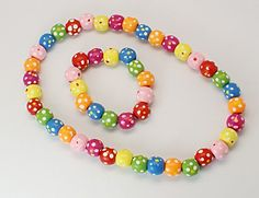 Colorful Wooden Jewelry Sets, Necklace & Bracelet Sets for Kid