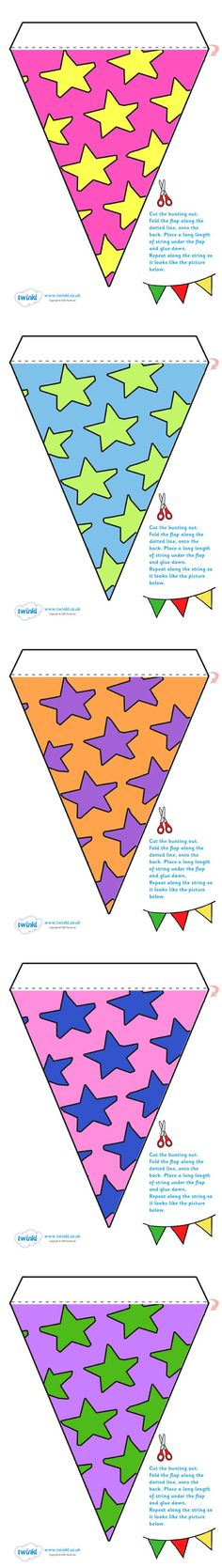 Free Printable Display Bunting (Stars)