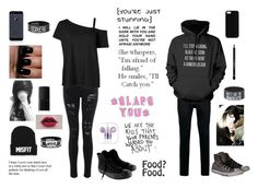"""""""I Like You Alot"""" by karachristian52900 ❤ liked on Polyvore featuring NARS Cosmetics, Converse, Topman, Love Quotes Scarves, Maison Takuya and Givenchy"""