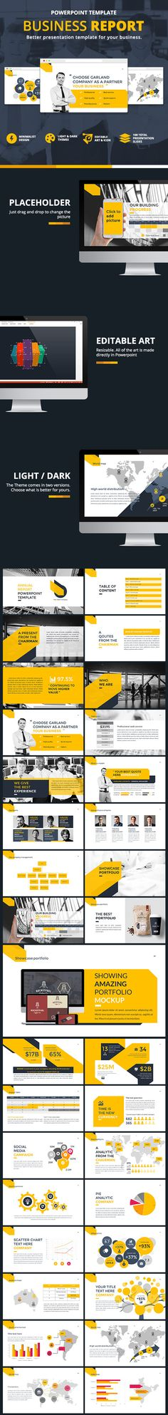Business Report Presentation PowerPoint Template #design #slides Download: http://graphicriver.net/item/business-report-presentation/12453164?ref=ksioks