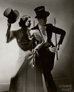 Old Hollywood Couple, top hat & cane - Conde Nast