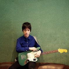 Johnny Marr with his signature Jaguar in Sherwood Green Metallic. A limited number of guitars are available in this finish! http://www.fender.com/series/artist/johnny-marr-jaguar-rosewood-fingerboard-sherwood-green-metallic/ Instagram photo by @fenderartists (Fender's Artist Gallery) | Iconosquare