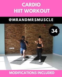 Sweat buckets and burn calories in this FAT MELTING cardio workout! -- Sweat buckets and burn calories in this FAT MELTING cardio workout! Full Body Hiit Workout, Gym Workout Videos, Cardio Workout At Home, Sweat Workout, Fitness Workout For Women, Pilates Workout, Body Fitness, Gym Workouts, At Home Workouts