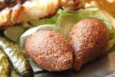 Easy recipe for kibbeh, a Lebanese food containing ground meat or lamb with spices. Kibbeh is very popular among Westerners.