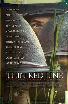 """""""The Thin Red Line"""" Original Movie Poster 1998"""