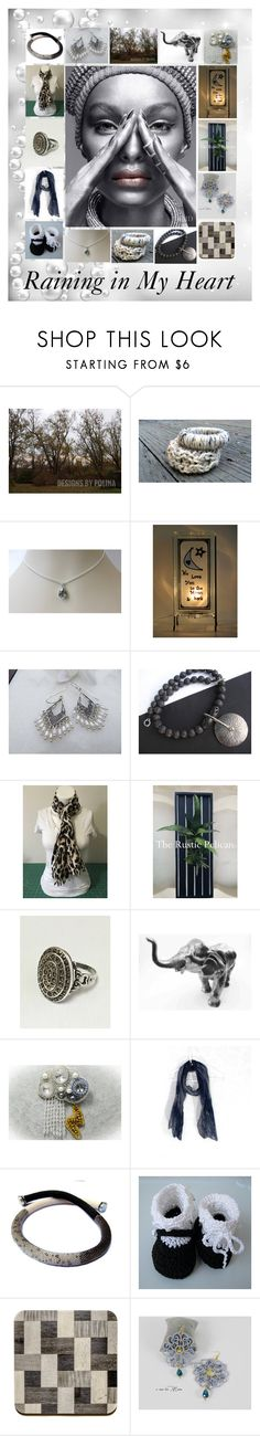 """Raining in My Heart: Handmade & Vintage Gift Ideas"" by paulinemcewen ❤ liked on Polyvore featuring Nature Home Decor, rustic, vintage and country"