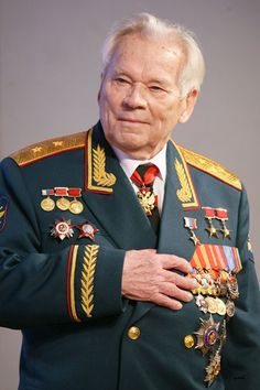 Mikhail Timofeyevich Kalashnikov | Russian small arms designer, most famous for developing the AK-47, AKM, and AK-74 assault rifles.
